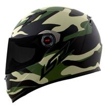 Capacete ls2 army ff358