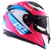 Capacete LS2 FF320 Stream Dimitry Rosa Azul Branco -