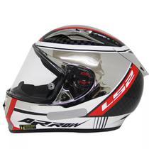 Capacete Ls2 Ff323 Indy Carbon Cromado Tamanho:62 -
