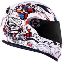 Capacete LS2 FF358 Crazy Clown Branco -