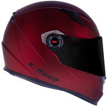 Capacete LS2 FF358 Monocolor Fosco Vermelho -