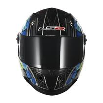 Capacete Ls2 Ff358 Touring Preto Gry Flo Yellow