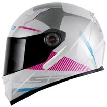 Capacete LS2 FF358 Tyrell Branco/Rosa