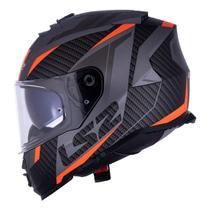 Capacete LS2 FF800 Storm Racer Laranja Titanium Fosco Viseira Interna -