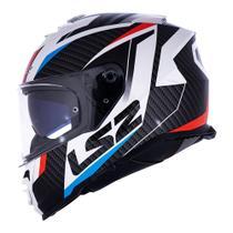 Capacete Ls2 ff800 Storm Racer Vermelho Azul Branco -