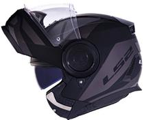 Capacete Ls2 Scope Ff902 Mask Preto Cinza Escamoteável -