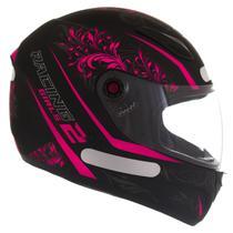 Capacete mix fokker racing girls 2 preto/rosa tam.58 - Mixs