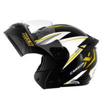 Capacete mixs gladiador carbon preto e amarelo brilhante tam 58 - Mixs capacetes