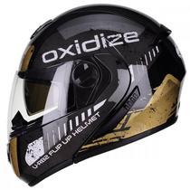 Capacete Modular Peels U-rb2 Oxidize Preto/Dourado - Texx