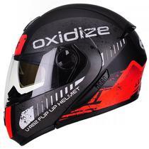 Capacete Modular Peels U-rb2 Oxidize Preto Fosco/Vermelho - Texx