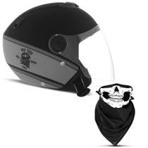 Capacete Moto Aberto Custom Pro Tork New Atomic Hd Skull Riders -