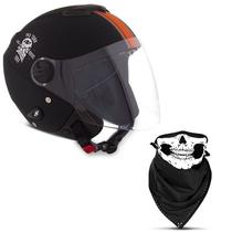 Capacete Moto Aberto Custom Pro Tork New Atomic Skull Riders -