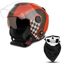 Capacete Moto Aberto Custom Pro Tork New Atomic Vintage -
