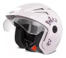Capacete moto aberto EBF Thunder Open New Summer Femme branco -