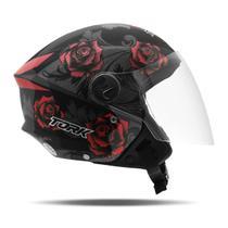 Capacete Moto Aberto New Liberty 3 Flowers Pro Tork -