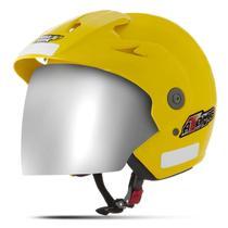 Capacete Moto Aberto Pro Tork Atomic Viseira Cromada -