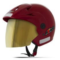 Capacete Moto Aberto Pro Tork Atomic Viseira Dourada -