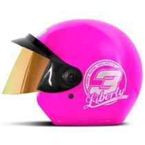 Capacete Moto Aberto Pro Tork Liberty 3 Viseira Dourada -