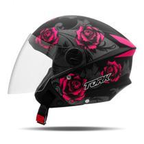 Capacete Moto Aberto Pro Tork New Liberty 3 Flowers Fosco -