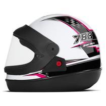 Capacete Moto Automático Pro Tork Super Sport Moto Branco -