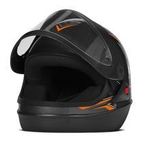 Capacete Moto Automático Pro Tork Super Sport Moto Grafite -