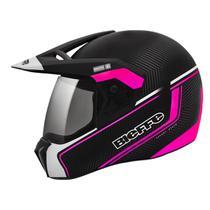 Capacete Moto Bieffe 3 Sport Stato Preto Brilhante Rosa -
