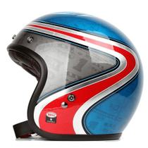 Capacete Moto Custom 500 Airtrix Heritage Blue Red Tam 58 - Bell