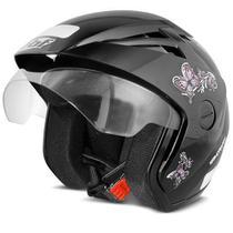 Capacete moto EBF Thunder Open New Summer Femme preto -
