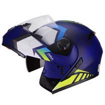 Capacete Moto Escamoteavel Peels U-RB2 Rush Azul Fosco -