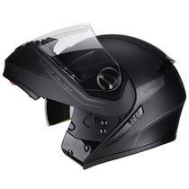 Capacete Moto Escamoteável Peels Urban Classic Preto Fosco Com Viseira Solar -