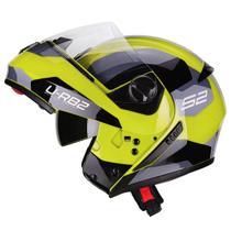 Capacete Moto Escamoteável Peels Urban Sync 2 Amarelo Cinza Brilhante -