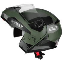 Capacete Moto Escamoteável Peels Urban Sync 2 Verde Militar Fosco -