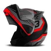 Capacete moto escamoteável pro tork v-pro jet 3 -