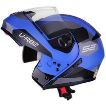 Capacete Moto Escamoteável Robocop Peels Urban Sync 2 Azul Fosco -
