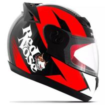Capacete moto evolution brilhante - red nose -