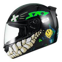 Capacete Moto Fechado Esportivo Sky Chaos Motoboy Verde -