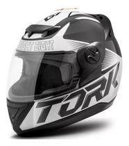 Capacete moto fechado liberty evolution g7 branco preto brilhante - Pro tork