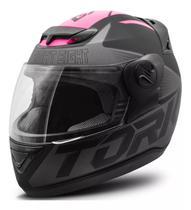 Capacete moto fechado liberty evolution g7 feminino rosa preto fosco - Protork