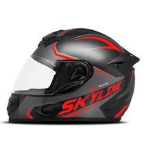 Capacete Moto Fechado Mixs Mx2 Skyline Brilhante -