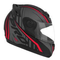 Capacete Moto Fechado Pro Tork 788 G6 Preto Fosco Vermelho -