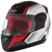 Capacete Moto Fechado Pro Tork 788 G6 Pro Series Tech Preto Fosco Vermelho Branco -