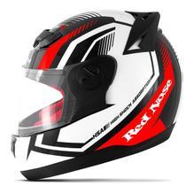 Capacete Moto Fechado Pro Tork Evolution G6 Red Nose RN-01 Brilhante -