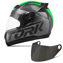 Capacete Moto Fechado Pro Tork Evolution G7 Preto Brilhante + Viseira Fumê -