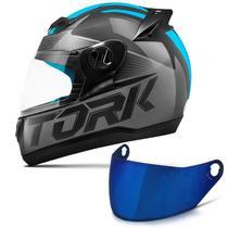 Capacete Moto Fechado Pro Tork Evolution G7 Preto Brilhante + Viseira Iridium -