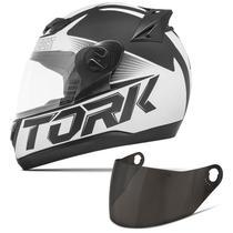 Capacete Moto Fechado Pro Tork Evolution G7 Preto Fosco + Viseira Fumê -