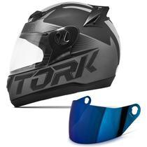 Capacete Moto Fechado Pro Tork Evolution G7 Preto Fosco + Viseira Iridium -