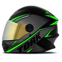 Capacete Moto Fechado Pro Tork R8 Viseira Dourada -