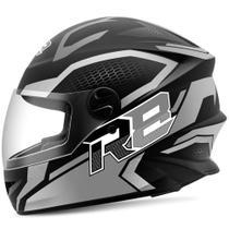 Capacete Moto Fechado R8 Air Pro Tork Fosco Preto 56 -