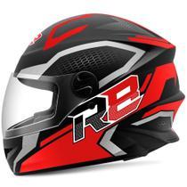 Capacete Moto Fechado R8 Air Pro Tork Fosco vermelho 56 -