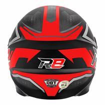 Capacete Moto Fechado R8 Air Pro Tork Fosco vermelho 58 -
